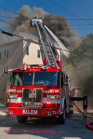 7 Alarm Structure Fire - Bennington St, Lawrence, MA - 6/11/17