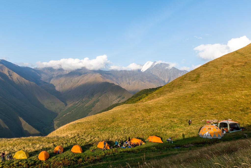 Camp below Atsuna Pass