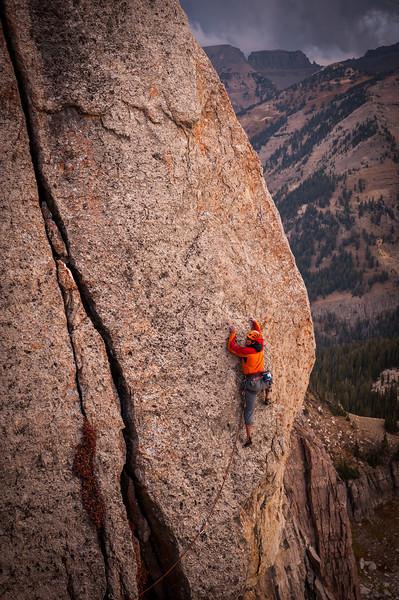 Grand Teton rock climber