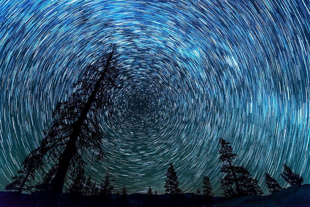 Star Trails over Utica Reservoir v3