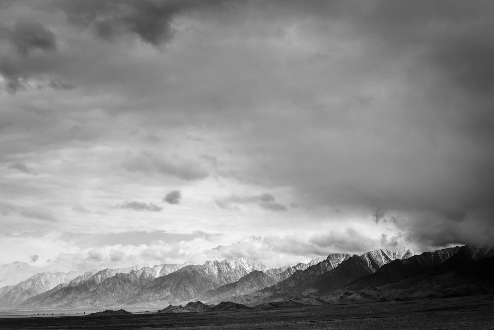 Storm clouds along the Sierra Crest