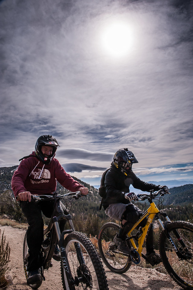 Erick Rodriguez and Israel Bilodeau Mountain Biking the Tahoe Rim Trail, Lake Tahoe, CA