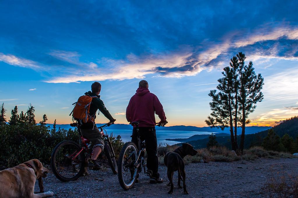 Israel Bilodeau and Adam Broderick Mountain Biking around Lake Tahoe, CA