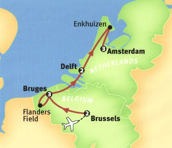 Brussels was the first stop on the tour