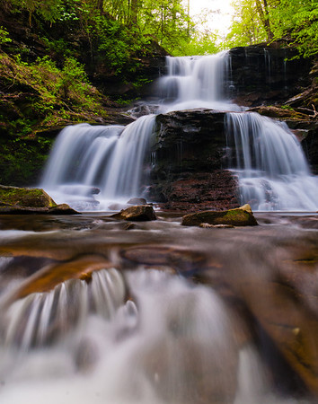 Waterfall at Ricketts Glen State Park, Pennsylvania