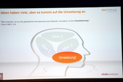 Rid Innovationskongress 2013 | Zusammenfassung Prof. Dr. Klaus Gutknecht, elaboratum | Joachim Stumpf, BBE-Handelsberatung