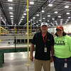 Carol Harper — The Morning Journal <br> Production Manager Mark Daley and Human Resources Director Leigh Cullen said they were excited to show the community a new almost 350,000-square-foot facility to manufacture and recondition football helmets and equipment at 7501 Performance Lane in North Ridgeville. More than 5,000 visitors attended an open house from noon to 4 p.m. May 21, 2017, at the facility.