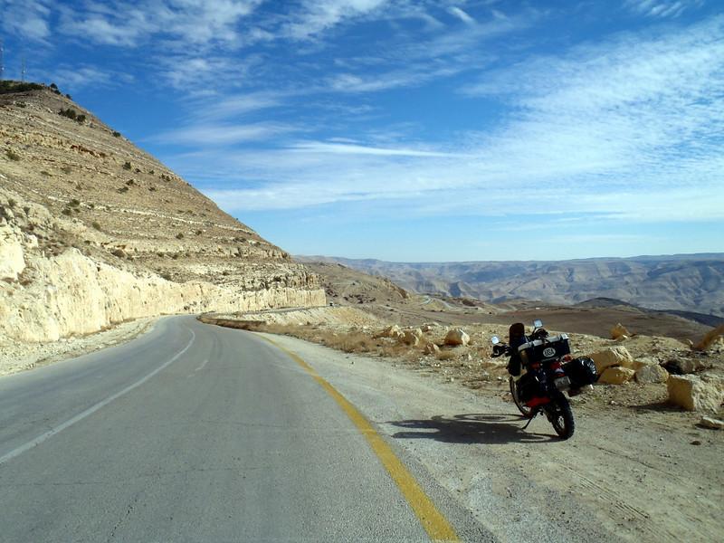 On the road in Jordan.