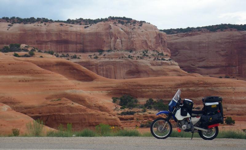 Short break outside of Moab, Utah