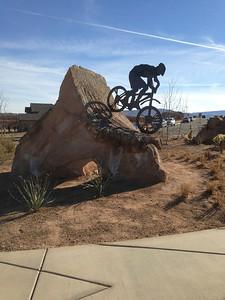 downhill statue