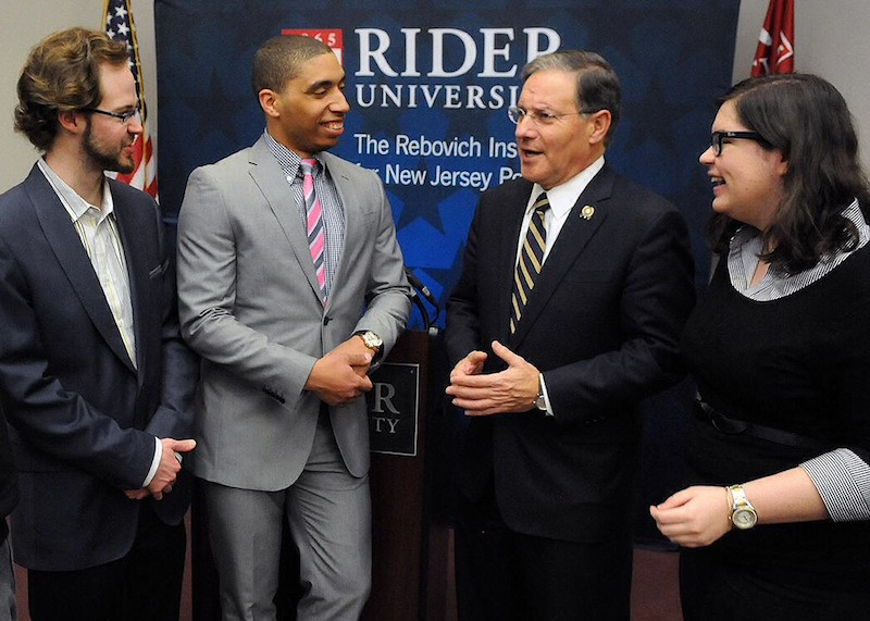 March 5, 2014: Assembly Republican leader Jon Bramnick spoke to an audience at Rider on March 5 about leadership and comedy.