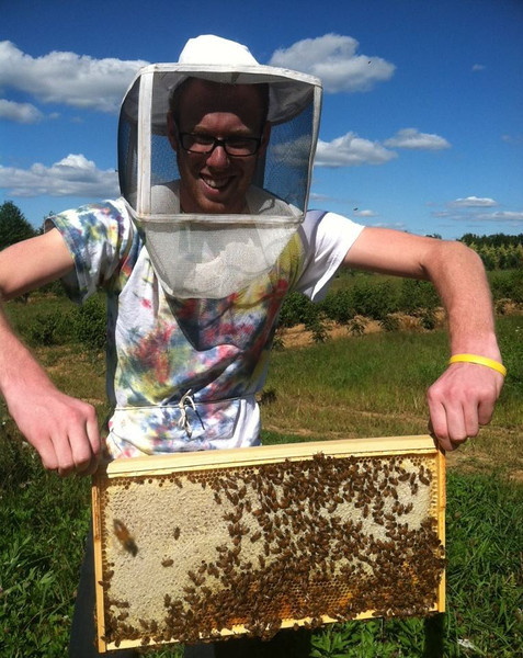 Stephen Schwartz is Rider's beekeeper.