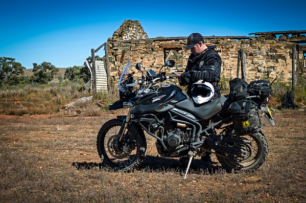 Dan Wilkinson checking the maps in outback South Australia to double check he was on the right track (he wasn't).