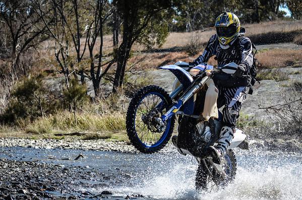 Matthew Mann crossing a creek near Walcha, NSW