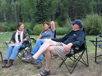 MrsWildTurkey, GordyWife, Wild Turkey at Gordy Camp Saturday Eve