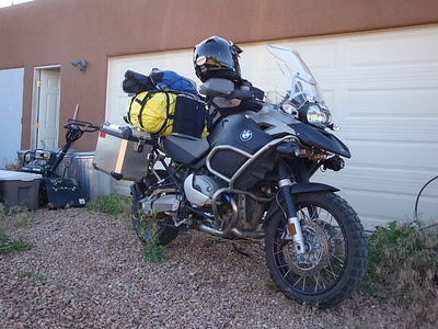 Departing home loaded to go to work and then depart from work on to Pikes Peak.