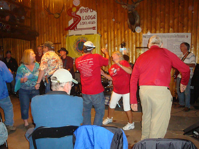 """25th Annual Bavarian Mountain Weekend (BMW) Rally @ Sipapu - 2009-09-12...Saturday night inside the lodge with coffee and beer flowing and some seriously interesting dancing to """"The Blue Whales""""."""
