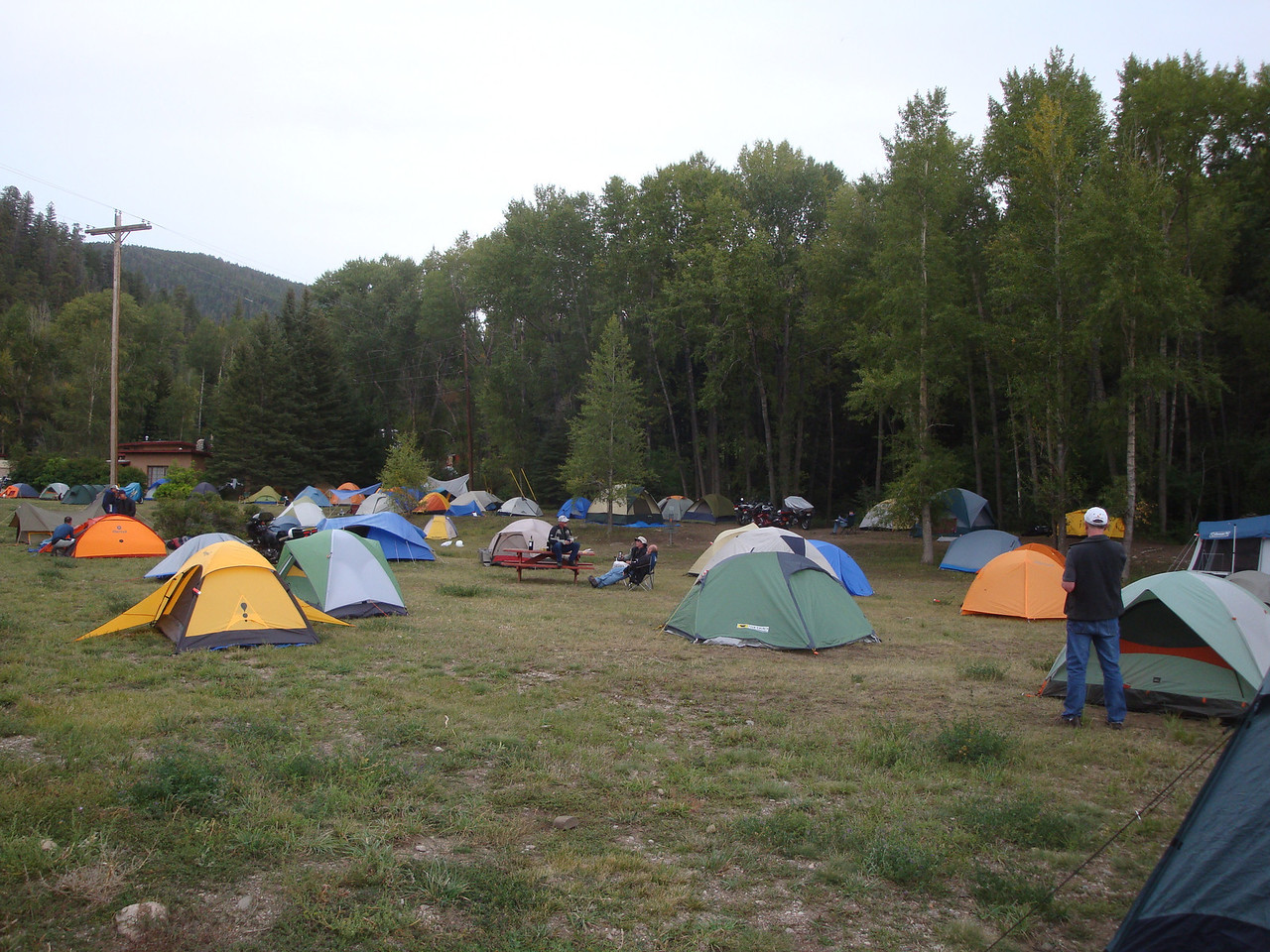 25th Annual Bavarian Mountain Weekend (BMW) Rally @ Sipapu - 2009-09-11 Friday afternoon camp coming together.