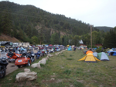 25th Annual Bavarian Mountain Weekend (BMW) Rally @ Sipapu - 2009-09-11 Friday evening...camp developing nicely.