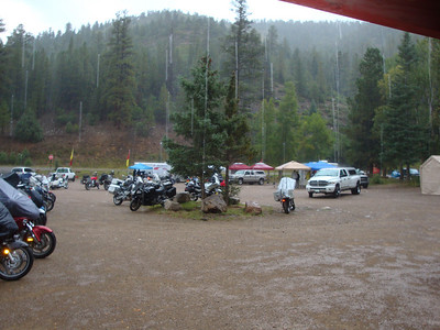 25th Annual Bavarian Mountain Weekend (BMW) Rally @ Sipapu - 2009-09-12...Saturday afternoon rain and light hail.