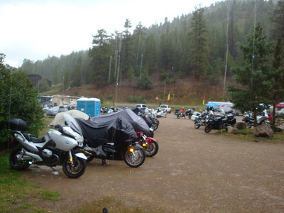25th Annual Bavarian Mountain Weekend (BMW) Rally @ Sipapu - 2009-09-12...Saturday afternoon rain and light hail.