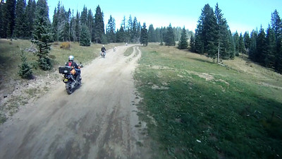 2010-09-26 Elk Mtn BMW Shop Ride 02f Picking Up A Pig