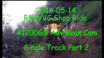 2016-05-14 BMWVC Shop Ride 10 Single Track Part 2