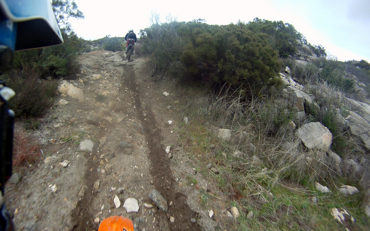 These rocky sections of trail were a lot of fun