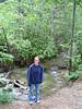 sara at the ck where we camped