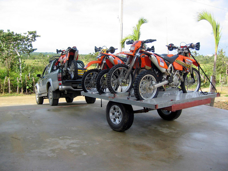 Bikes loaded and ready to go for our 2nd day of riding.