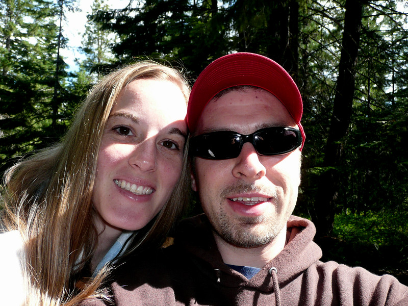 sara and I at the trail head
