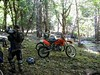 scott and lorne at the creek crossing behind the mill