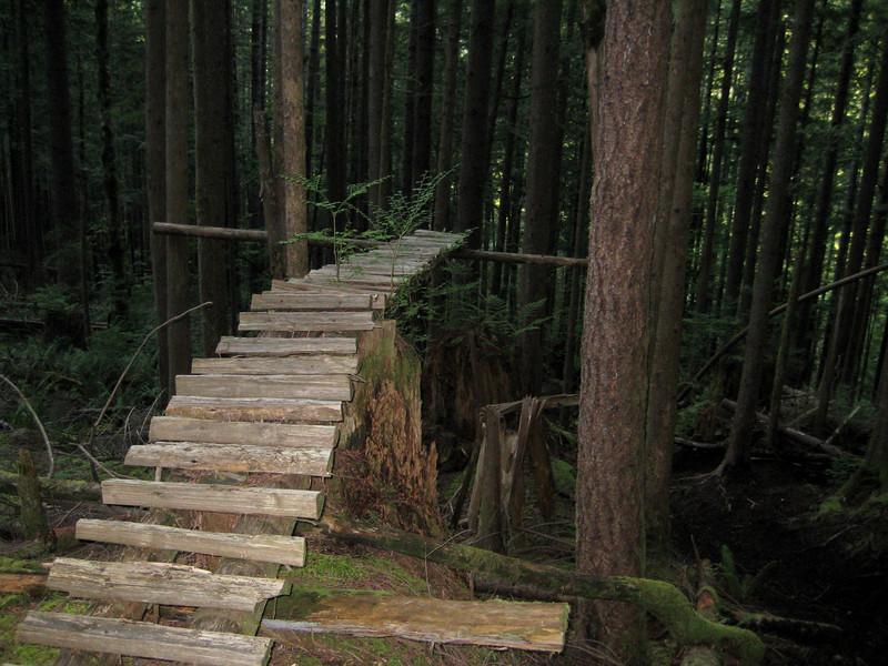 left over mountain bike ramps