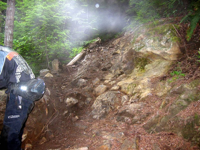 This was the trail leading up to the Dark Divide. This was a pretty tough switchback.