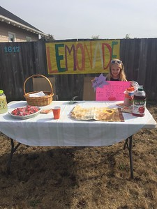 Mike Richards -- contributed Ridgewood Elementary School 2nd grader Katelyn Peterson sells lemonade in Eureka to raise money for families and survivors of the ongoing fires in Sonoma County.
