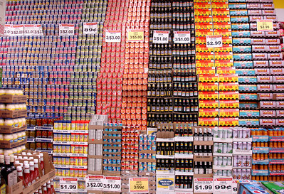 My feeble attempt at imitating the work of Andreas Gursky, who made a 7 foot by 11 foot photo of the interior of a 99-cent store, portraying innumerable items therein.