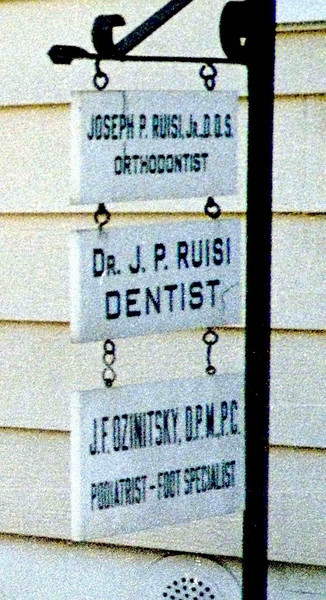Anybody remember Dr. Joseph Ruisi, orthodontist, or Dr. Jeffrey F. Osinitsky, podiatrist?