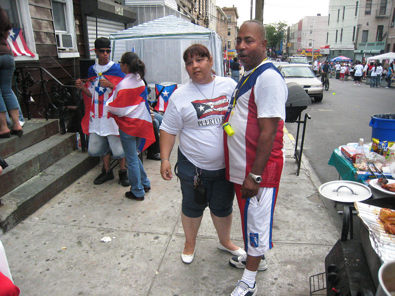 Nick and Evelyn celebrating Puerto Rico Day.