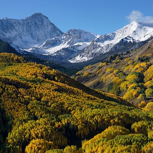 Snowmass Mountain and Capitol Peak.  Aspen, CO