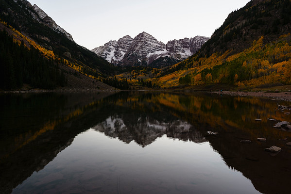 Post-sunset at Maroon Lake.  Aspen, CO