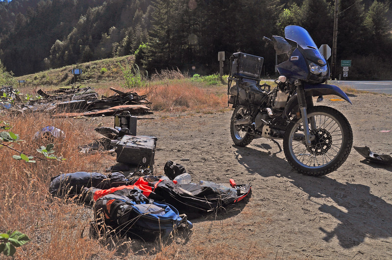 I met David on the road to Crater Lake, a couple of days later I found him broke down on the side of the road.