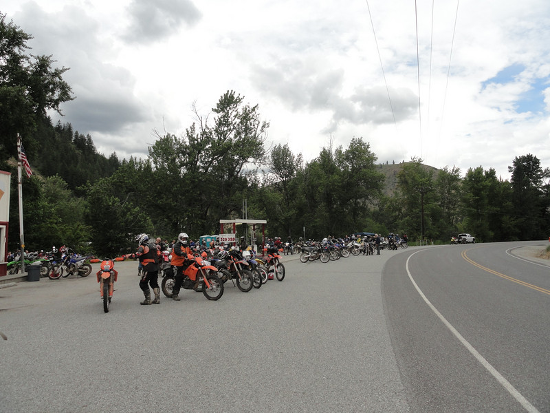 At Coopers store about 1/2 way through the ride.