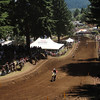 The famed horsepower hill. After the S turn off the starting line it is a long uphill toward the back of the track.