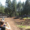 Dungey coming up the hill.