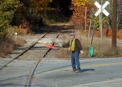 Milford Bennington Railroad  Clearing the intersection in Lyndeborough