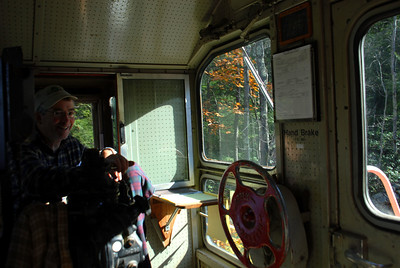 Milford Bennington Railroad - Wilton, NH View from inside the cab