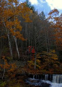 Milford Bennington Railroad - Wilton, NH coming through the woods - 1