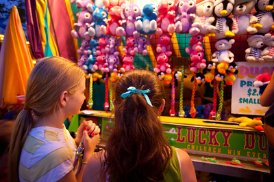 Annie and Anisa at the Devon Horse Show.  It is always fun for them to go to the games.