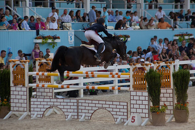 Devon Horse Show.  Juniors jumping.
