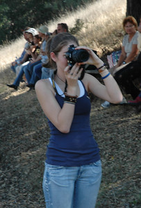 My fellow photographer for the day.  She had the cooler lens and probably cooler pictures too.